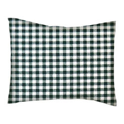 SheetWorld - SheetWorld Crib / Toddler Percale Baby Pillow Case - Hunter Green Gingham Check - Baby or Toddler pillow case. Made of an all cotton percale fabric. Opening is in the back center and is envelope style for a secure closure. Features a hunter green gingham check print.