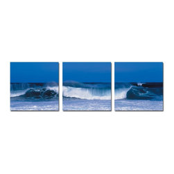 Surfs Up 3 Piece Photo, 8x24 - Artcorner offers affordable three-panel wall art for any type of interior wall space. We design each of our wall pieces by mounting beautiful hi-resolution images to high-quality, solid-wood panels. Our decorative wall-art sets are available in three different sizes and can be hung in commercial and office spaces as well as any area of the home. Panels are designed for durability and moisture resistance. Any piece can hang in bathrooms and kitchens without being damaged by heat and moisture.