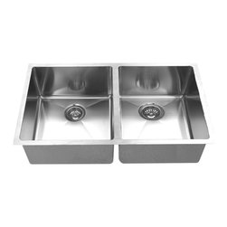BOANN - BOANN UMR3219D  Hand Made R15 50/50 Double Bowl 32 x 19 Inch Undermount 304 Sta - The BOANN Hand Made UMR3219D stainless steel sink is an excellent upgrade/addition to any home. Made from premium grade t304 stainless steel, this sink will not oxidize or rust. This sinks basin ratio is 50/50 in size. Using t304 grade material is more expensive than other grades because it is a higher quality of stainless steel, which is also why it is more durable. This premium grade of stainless steel is generally used in equipment that requires more strength and durability like in cars and machines. T304 stainless steel material is 100% lead free. Tank Depth: 10 Inches, Tank Bevel Radius: 1/2 Inch. Sink includes colander/strainer, plug and grids.