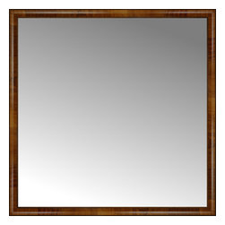 """Posters 2 Prints, LLC - 51"""" x 51"""" Belmont Light Brown Custom Framed Mirror - 51"""" x 51"""" Custom Framed Mirror made by Posters 2 Prints. Standard glass with unrivaled selection of crafted mirror frames.  Protected with category II safety backing to keep glass fragments together should the mirror be accidentally broken.  Safe arrival guaranteed.  Made in the United States of America"""