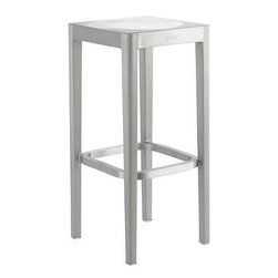 Emeco Barstool - Polished - For a kitchen that is anything but fussy, opt for these clean, chic, and classic backless barstools.