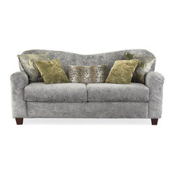 Snow Leopard Sofa - Check out this sofa in a softer snow leopard print. I would ditch the pillows shown with it. If you are brave enough to get a print couch, leopard print is the way to go. It really is another form of a neutral that you can enjoy for years and years.