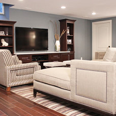 Contemporary Family Room by Carrie Wissner Designs