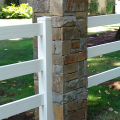traditional fencing by Brown Bros. Masonry