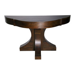 NOIR - NOIR Furniture - Galo console - GCON175 - The Noir Galo console delivers an organic accent to the transitional hallway. Rich in warm mahogany, the table's curved form creates timeless style.