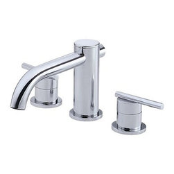 """Danze - Danze® Parma™ Roman Tub Faucet Trim Kit - Chrome - Danze® products are beautiful inside and out, from our rich, lustrous finishes to our ceramic disc valves with a Drip-Free guarantee to our solid brass waterways. Clean and modern lines define the Parma™ Collection. The minimalist design philosophy of the Parma™ will stand out without overpowering other elements of your bath or powder room. Available in multiple finishes. Also available with Personal Shower. REQUIRES 10"""" CC valve (D210000BT) or Widespread valve (D215000BT). Features Slip spout mounting Solid brass spout Manufacturer's limited """"lifetime"""" warranty ADA Compliant View Spec Sheet"""