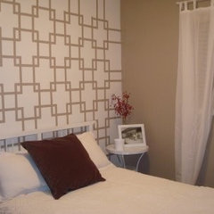 modern bedroom Wall Paint Idea