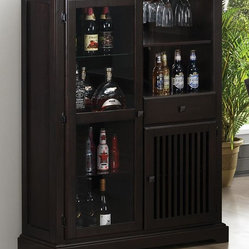 Coaster Furniture - Marbrisa Mission Style Bar Cabinet by Coaster - Marbrisa Mission Style Bar ...