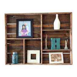 (del)Hutson Designs - Reclaimed wood wall shelf (large) - Made out of %100 reclaimed wood, this piece is sure to catch attention in your house for it's unique and one of a kind style.