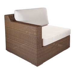 Westminster Teak Furniture - Malaga Luxury Outdoor Patio Furniture, Corner - Malaga Luxury Outdoor Furniture is constructed of high quality, All Weather Wicker.  Deep Seating Cushions included.