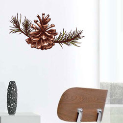 Christmas Pinecone Vinyl Wall Decal ChristmasPineconeUScolor002; 72 in. - Vinyl Wall Decals are an awesome way to bring a room to life!