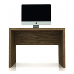 Manhattan Comfort - Functional Compact Hamilton Desk, Walnut - The Hamilton desk 1.0 is smooth and compact, perfect for any office space. In two sleek color options, the Hamilton desk is practical and tasteful. The desk is thick and strong and built to last, and will withstand long use. The unique paint is protected by the Microban Antibacterial Protection.