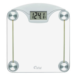 "Conair - Weight Watchers&reg.  by Conair Digital Glass Weight Scale - Few things are ""turned on"" when you step on them. But those few things include this weight scale, which comes to life the second you step on it. And with its pleasant feeling glass platform and easy-to-read digital display, you might be a little turned on too."