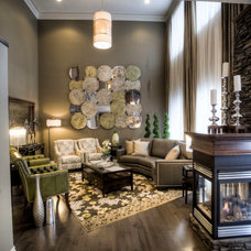 Transitional Living Room by BeauIdeal Inc. Interior Design