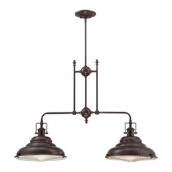 Neo Industrial Metal Shade Island Chandelier -
