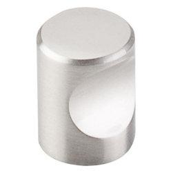 "Top Knobs - Indent Knob 3/4"" - Brushed Satin Nickel - Length - 3/4"", Width - 3/4"", Projection - 15/16"", Base Diameter - 13/16"""