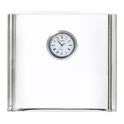 Orrefors - Vision Square Desk Clock - A clock is an excellent idea as an executive gift or recognition award - timeless appreciation! Part of Awards by Orrefors collection. Etch company logo and personalization on front.