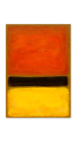 Victoria Kloch - Orange Crush Painting by Victoria Kloch, Bright Color Field Abstract - Title: Orange Crush - large original abstract