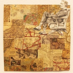 A Wandering Mind (Original) by Anna Prezioso - Our minds are constantly being drawn away from the present into our thoughts.  Each thought on its own probably makes sense, but would they still be recognizable if all strung together? Or would we need a map to find our way back out again?