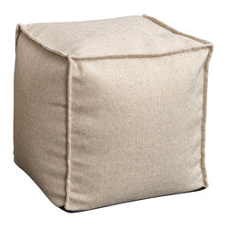 Great Deal Furniture - Luther Fabric Cube Pouf, Beige - Whether you want to put your feet up at the end of a long day or just want a stylish accent for your home, the Luther Fabric Cube poufs are a fun and easy addition to any space. Crafted from sturdy poly-acrylic blend fabric, they are double-stitched ensuring a puncture-free use. They are filled with environmentally friendly polystyrene beads that offer the perfect combination of strength and softness. Lightweight and durable, the Luther poufs are comfortable enough to be used as additional seating.
