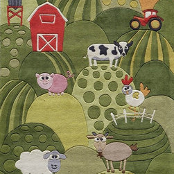 Momeni - Kids Lil Mo Whimsy 4'x6' Rectangle Grass Area Rug - The Lil Mo Whimsy area rug Collection offers an affordable assortment of Kids stylings. Lil Mo Whimsy features a blend of natural Grass color. Hand Tufted of 100% Mod-Acrylic the Lil Mo Whimsy Collection is an intriguing compliment to any decor.
