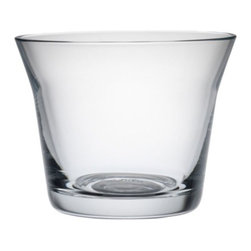 Alessi - Harri Koskinen Set of 4 Wine Glasses by Alessi - The Alessi Harri Koskinen Set of 4 Wine Glasses is intended for wine as well as other uses: toasting, sipping, measuring, stacking, storing. Designer Harri Koskinen developed this glass as part of the 123dl set of three glass types (wine, water, liquor). The premise is that these glasses could satisfy numerous needs throughout the day: maybe for holding a snack, or enjoying an espresso or a cappuccino or a cup of tea. Alessi, known as the Italian design factory, has manufactured household products since 1921. The stylish and fun items offered are the result of contemporary partnerships with some of the world's best designers of unique and modern home accessories.