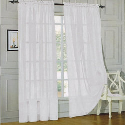 "Elegant Comfort® 2-Piece SHEER PANEL with 2inch ROD POCKET - Window Curtains 60- - 2 panels included. Each panel is 60"" x 84"" (152cm x 213"")"