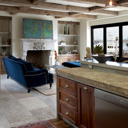 Lighting with architectural stone and antiques (Mediterranean Style) - Image provided by 'Ancient Surfaces'