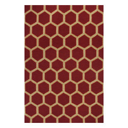 "Kas Rugs - Kas Meridian 2524 Red 7'6"" Round Area Rugs - Kas Meridian 2524 Red 7'6"" Round Area Rugs"