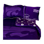 College Covers - NCAA Kansas State Full Bed Set Purple Cotton Bedding - Features: