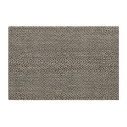 Island Graphite Chevron Rug - A nice neutral rug with a subtle chevron pattern can be easily added to any room.