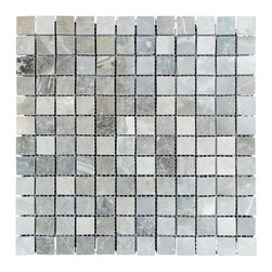 STONE TILE US - Stonetileus 10 pieces (10 Sq.ft) of Mosaic Silver Polished 1x2 - STONE TILE US - Mosaic Tile - Silver Polished 1x1 Specifications: Coverage: 1 Sq.ft size: 12x12 - 1 Sq.ft/Sheet Piece per Sheet : 144 pc(s) Tile size: 12x12 Tile thickness: 3/8 Sheet mount:Meshed back Stone tiles have natural variations therefore color may vary between tiles. This tile contains mixture of white - dark brown - Black - silver - light gray - dark gray - and color movement expectation of low variation, The beauty of this natural stone Mosaic comes with the convenience of high quality and easy installation advantage. This tile has Polished surface, and this makes them ideal for floor, walls, kitchen, bathroom, Sheets are curved on all four sides, allowing them to fit together to produce a seamless surface area. Recommended use: Indoor - High traffic - Low traffic - Recommended areas: Silver Polished 1x1 tile ideal for floor, walls, kitchen, bathroom, Free shipping.. Set of 10 pieces, Covers 10 sq.ft.