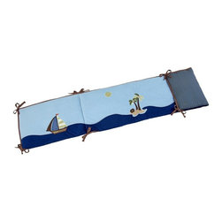 NoJo - NoJo Ahoy Mate Traditional Padded Bumper Multicolor - 8517002 - Shop for Crib Bumper Pads from Hayneedle.com! If you have created a nautical theme in your baby's nursery the NoJo Ahoy Mate Traditional Padded Bumper will make a perfect piece to go with it. Featuring a sailboat against a blue sky and ocean this four-piece bumper is made of a polyester and cotton blend and is designed to fit most standard-sized cribs.About NoJoOffering fashionable safe and reliable products throughout the United States for the past 40 years NoJo's goal is to offer fashion-forward infant and toddler bedding blankets and accessories that meet the demands of today's modern lifestyle. NoJo puts not only style into their products but comfort and safety too.