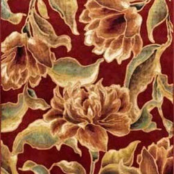 "Kas - Bella Red Versailles Floral 3'3"" x 4'7"" Kas Rug  by RugLots - Machine-woven in Belgium of 100% viscose, our Versailles Collection presents an extraordinary line of luxurious and trendy designs in a current color palette. These artistically detailed rugs range from traditionals and classics to striking floral looks. A luxurious sheen and ultra-soft pile make each of these fine faux silk pieces a work of art for any room throughout your home."