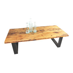 what WE make - old growth reclaimed pine coffee table - . 100+ years old growth reclaimed pine