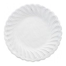 Arte Italica - Bella Bianca Pique Salad/Dessert Plate - This dinnerware was created by an Italian fashion designer then hand-crafted using a delicate white glaze over stoneware. The beautiful details create an elegant, unique addition to any table. Italian Stoneware, Hand made in Italy.