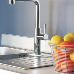 MaestroBath - High End Kitchen Faucet with Pull Out Sprayer - This modern single handle kitchen faucet with its unique pull out dual shower is a beautiful focal point in any kitchen. The high end Italian faucet can accommodate any type of kitchen sink. The contemporary faucet is easy to install, keep clean and maintain. Modern chrome faucet is also available in brushed nickel finish. Whether your decorating style is traditional or modern, Maestrobath products will compliment your home improvement project and add a lavish, luxurious feel while protecting your health, safety and the environment. Here is more information related to MaestroBath: Services Provided: Luxury Handmade Italian Vessel Sinks, Modern and Contemporary Kitchen and Bath Fixtures .. Areas Served: All United States and International Countries… Business Description: Maestrobath delivers contemporary and modern handmade Italian bathroom sinks and designer faucets to clients with taste of luxury. It carries a wide selection of beautiful and unique Travertine, Crystal and Glass vessel sinks in variety of colors and styles. Maestrobath services homeowners and designers Globally. Furthermore, it has dealer partners across United States and international countries.