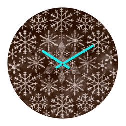 "DENY Designs - DENY Designs Ruby Door Frosty Chocolate Round Clock - Talk about a small home decor accessory that makes a HUGE impact! Our affordable 12"" Round Clock comes complete with the artwork of your choice and coordinating clock hands. Hang it on it's own or group it in a collection. Time's a tickin'!"