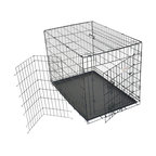 MAJESTIC PET PRODUCTS - Single Door Folding Dog Crate - Crate news! Now you can use this dependable training crate as a pleasant place for your dog to get used to his new digs. Whether it's to acclimate him to his temporary travel crate or his permanent pen at home, you'll be giving your loyal companion an adaptable abode.
