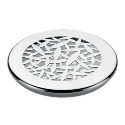 "Alessi - Alessi ""CACTUS!"" Trivet - Keep your hot dishes off the table with this mirror polished steel trivet decorated with laser cut cactus leaves. Beautiful by itself, or treat yourself to the matching trays, baskets and kitchen accessories and revel in coordinated nirvana."