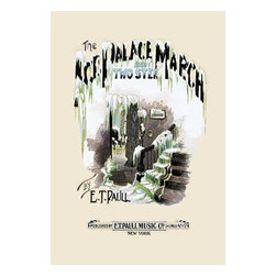"""Buyenlarge.com, Inc. - The Ice Palace: March and Two-Step- Paper Poster 20"""" x 30"""" - Edward Taylor Paull (1858 - 1924) was a prolific publisher of sheet music marches. His songs gained acclaim more from the cover art of the sheet music than often from the lyrics and tune."""