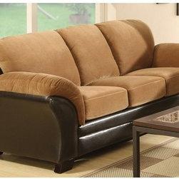 AC Pacific Furniture - Mia Microfiber Sleeper Sofa - JYQ1013 - Wood finish