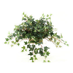 """D&W Silks - Artificial Mini English Ivy Tile Topper - It's amazing how much adding a plant can change the look of a room or decor, but it can be difficult if your space is not conducive to growing plants, or if you weren't exactly born with a """"green thumb."""" Invite the beauty of nature into your home without all the upkeep with this maintenance-free, allergy-free arrangement of artificial mini English ivy tile topper. This is not a living plant."""