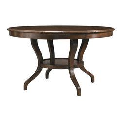 Hickory White - Hickory White Round Dining Table 860-10 - Maple solids with cherry veneers, heavy distressing.