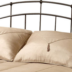 Hillsdale Furniture - Hillsdale Vancouver Poster Headboard - Twin - Popular contemporary design themes makes this bed a best seller. Tapered side posts and strategically placed doughnut style castings are highlighted by twisted spindles. Features a textured antique brown powder coat finish.