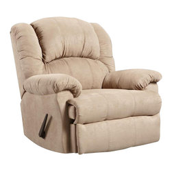 Chelsea Home Furniture - Chelsea Home Ambrose Chaise Rocker Recliner in Sensations Camel - Ambrose Chaise Rocker Recliner in Sensations Camel belongs to Verona IV collection by Chelsea Home Furniture.