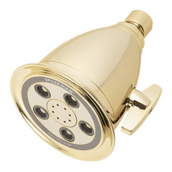 Speakman - Speakman Anystream Hotel Showerhead, Polished Brass Finish - Popularized by the world's finest hotels, timeless styling, and durable Speakman engineering, the Anystream Hotel Massage Showerhead is now a favorite fixture at many hotels and top seller in resorts and homes alike.