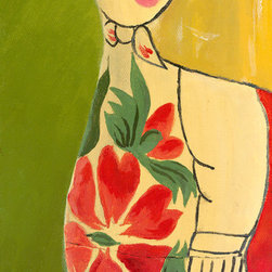 """Emma at Home - Matryoshka Three-quarter Face Canvas, 8"""" x 16"""" - You will fall in love with the rosy cheeks on this sweet little Russian doll. She's big on charm and would add character and great color to a children's room."""