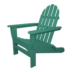 Folding Adirondack Aruba - Outdoor Recycled Plastic Furniture - Folding Adirondack chair, perfect for camping concerts, and days at the park!
