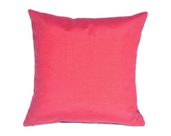 Pillow Decor - Pillow Decor - Waverly Sunburst Petunia 20 x 20 Outdoor Throw Pillow - Dazzle your patio guests with this bright petunia pink outdoor throw pillow. Made from 100% Polyester outdoor fabric from Waverly, this vibrant outdoor pillow resists mold, mildew and exposure to sunlight. Pair it with the Waverly Sidewalk Stripe Cancun 20 x 20 or 12 x 20 pillow for a bright and classic stripes and solid look.